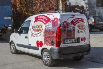 Брандиране на кола за детски парти център Тон Бонбон