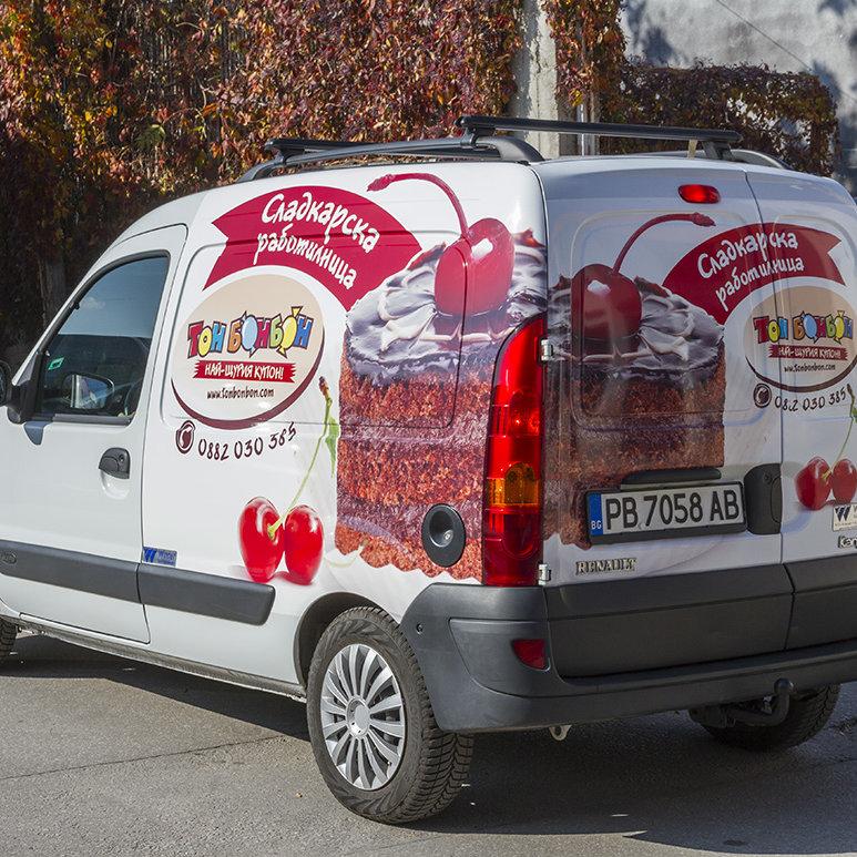 Ton Bonbon car wrap