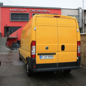 DHL bus wrap back