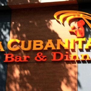 Channel letters La Cubanita