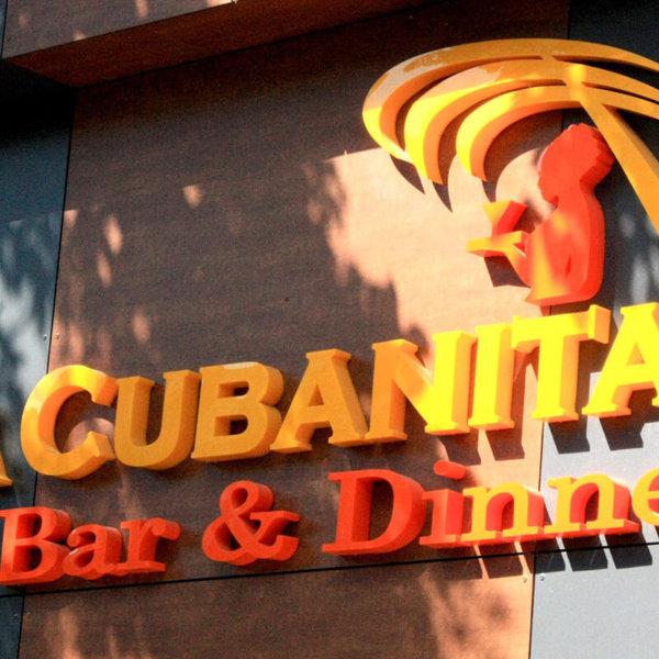 La Cubanita channel letters