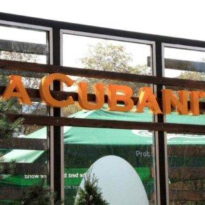 Orange channel letters La Cubanita