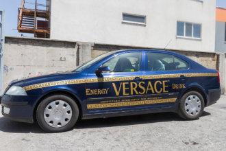 Versace Energy Drink - брандиране на кола с 3M фолио