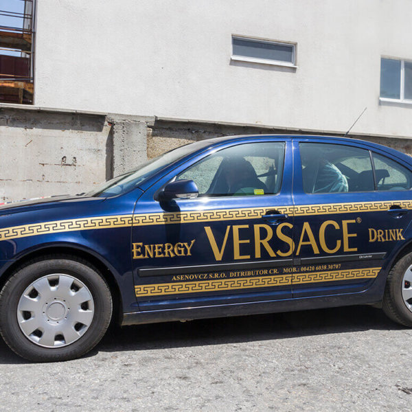 Versace car wrapping