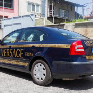Car wrap Versace energy drink