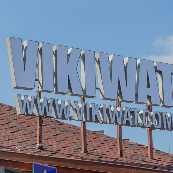 VIKIWAT channel letters