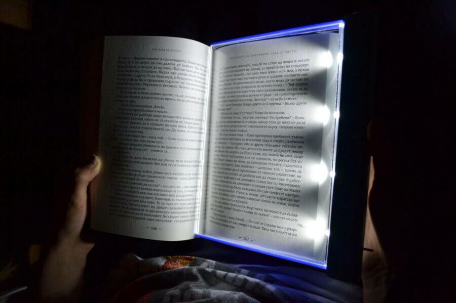 Осветление за книга от плексиглас