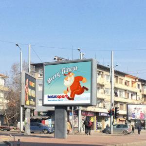 Total Sport billboard design