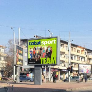 Design for outdoor advertising Total Sport