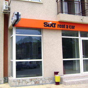 Sign Office Sixt in Sunny Beach