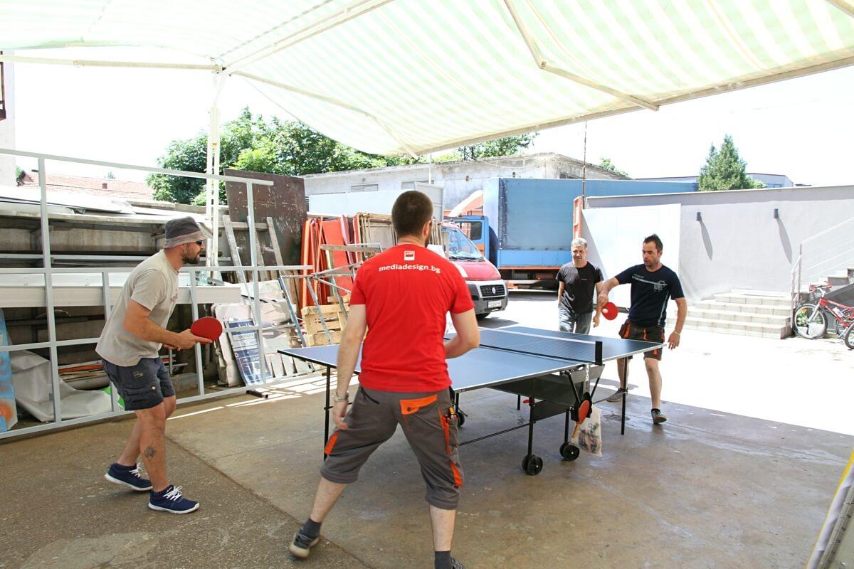Турнир по тенис на маса в рекламна агенция Медия Дизайн