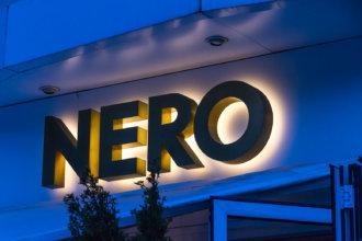 Ореолно светещи обемни букви от месинг NERO, София
