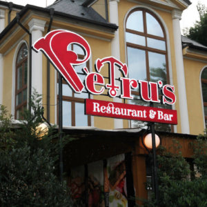 Channel letters with LED lighting for Petrus Sofia