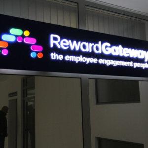 RewardGateway – illuminated acrylic sign