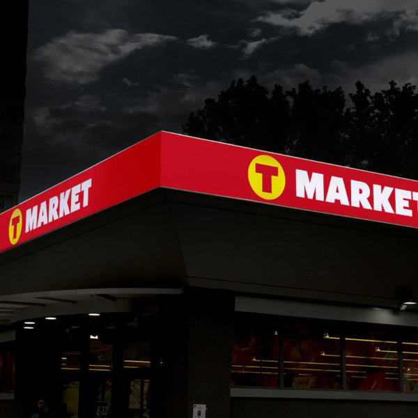 Sign with LED lighting G.O.Q. LED for T-market Sofia Dianabad