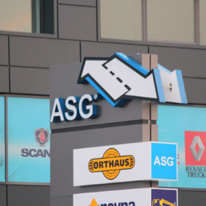 Attractive outdoor ad - Totem ASG Plovdiv
