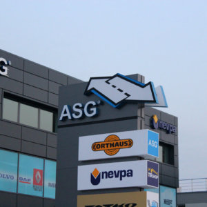 Channel letters with composite panel for ASG Plovdiv