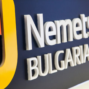 Acrylic sign for Nemetschek Bulgaria