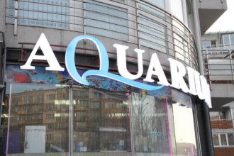 Надпис Aquarium София - обемни букви от плексиглас