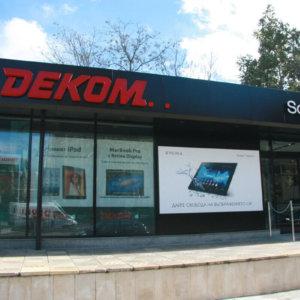 Non-illuminated sign for Dekom, Plovdiv