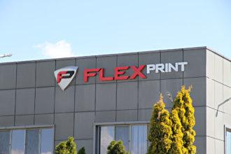 Обемни букви от плексиглас и емблема за фирма Флекспринт ООД