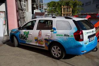 Брандиране на автомобил LitiaStad с фолио за дигитален печат на 3М