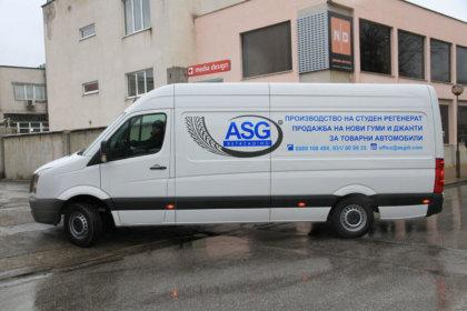 Брандиране на бус ASG Retreading с фолио 3М Scotchcal 50