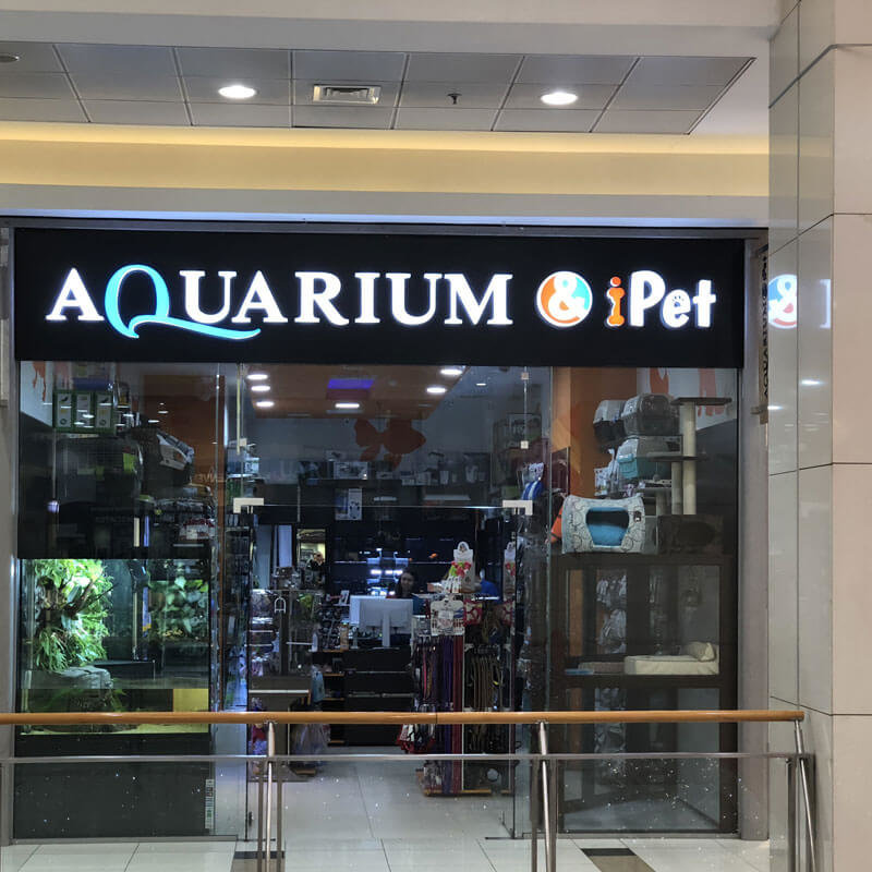 Illuminated sign for Aquarium & iPet