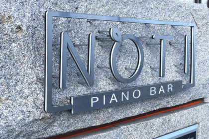 Обемни букви Свети Влас, за пиано бар Noti