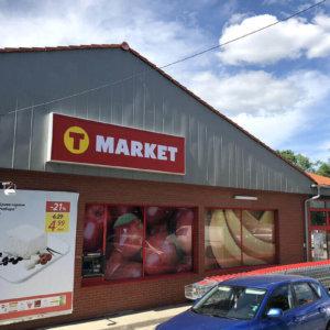 T-market Karnobat with new illuminated advertisement