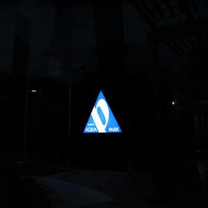 Aqua Park Persenk – illuminated triangle sign
