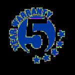5 години гаранция на обемни букви - 5 YEAR WARRANTY