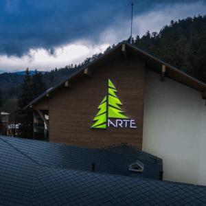 Hotel Arte in Velingrad - illuminated logo