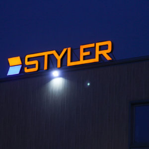 Channel letters Styler with LED illumination