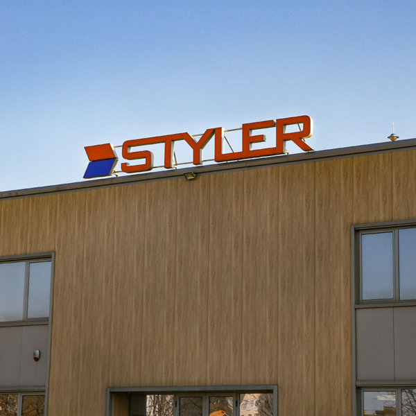 Channel letters Styler for the men clothes factory in Plovdiv