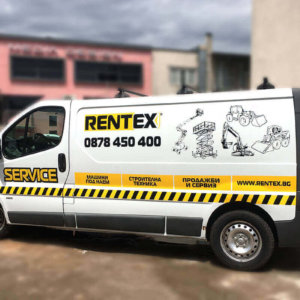 Car wrapping of van for Rentex company