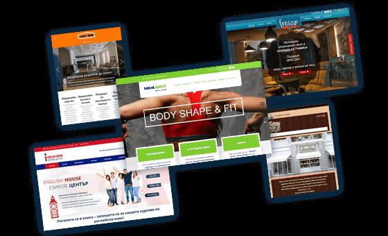 Проекти за изработка на уеб сайт, изпълнени от Медия Дизайн