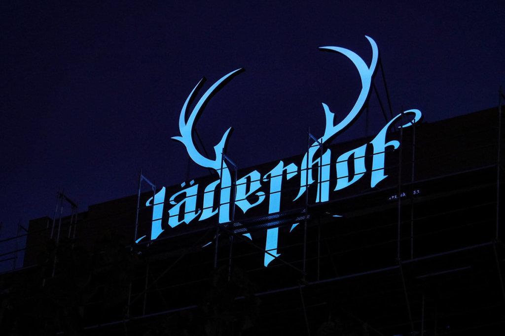 Външна светеща реклама за Светещи обемни букви с алуминий за хотел Jagerhof Plovdiv