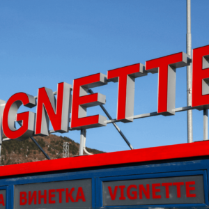 Illuminated channel letters - border checkpoint Kalotina