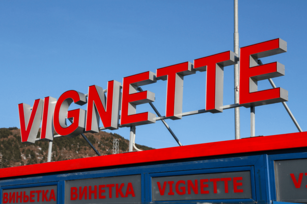 Illuminated channel letters - border checkpoint Kalotina