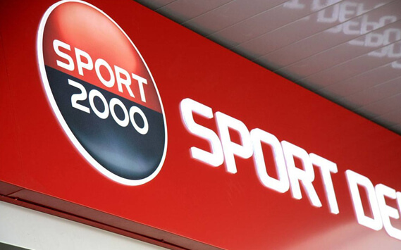 Sport Depot etalbond sign with embedded letters