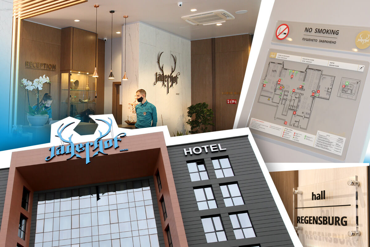 Hotel branding, channel letters for hotels, hotel signs
