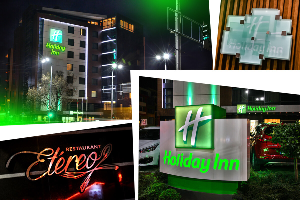 Hotel branding, channel letters for hotels