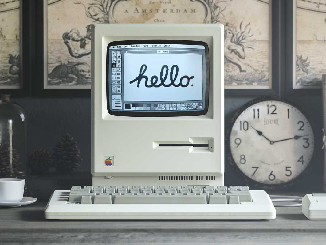 Macintosh Apple, what is the difference between serifs and sans-serif fonts?